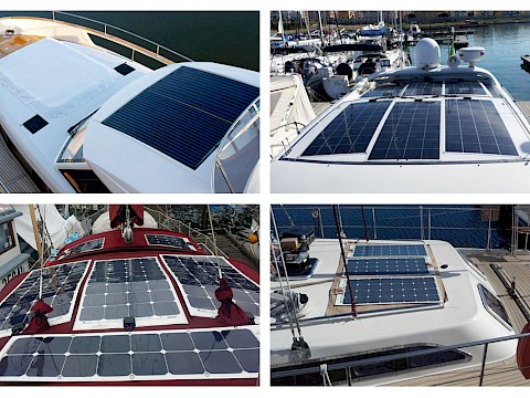 Where is the best place to install a solar panel on my boat?
