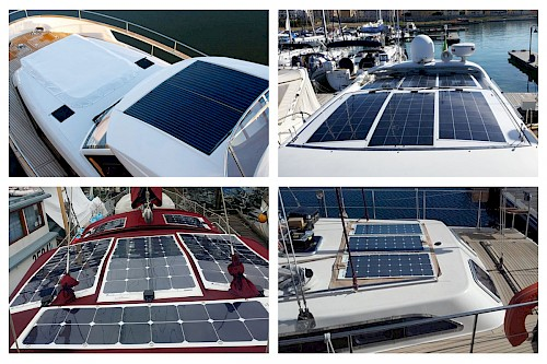 Where is the best place to install a solar panel on my boat