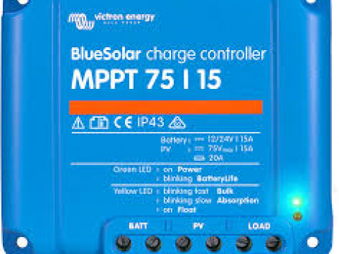 What Do the Flashing Lights Mean on My Victron 75/15 MPPT Solar Controller?