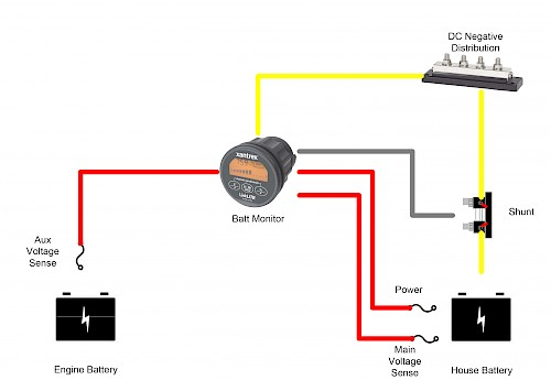 Why Should I Use a Shunt Instead of Connecting Directly to the Batteries?    Pacific Yacht Systems   Battery Shunt Wiring Diagram      Pacific Yacht Systems